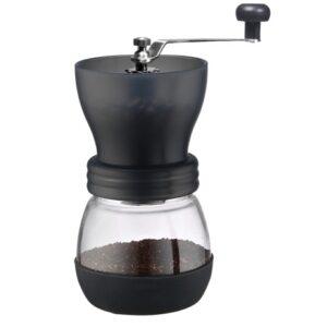 TIAMO Koffiemolen zwart met Conische Keramische schijven