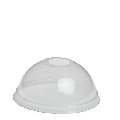 Bol Deksel met opening voor beker plastic.